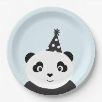 Party Like A Panda Paper Plate