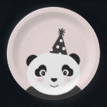 "Party Like A Panda Plates<br><div class=""desc"">Adorable blush,  black and white panda plates add the perfect accent to any party</div>"