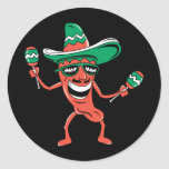Party Like A Pepper Classic Round Sticker at Zazzle