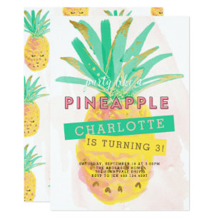 pineapple party invitations zazzle