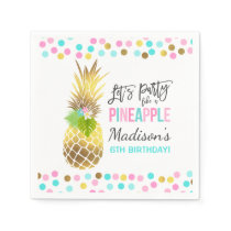 Party Like A Pineapple Birthday Party Napkin