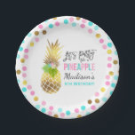 "Party Like A Pineapple Paper Plate 7&quot; Pink Gold<br><div class=""desc"">Party Like A Pineapple 7&quot; Paper Plate. 