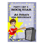 "Party Like a Rock Star! 5"" X 7"" Invitation Card"