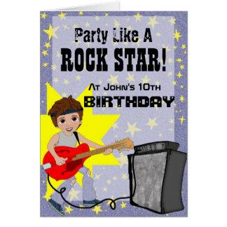 Party Like A Rock Star - Boy Greeting Card