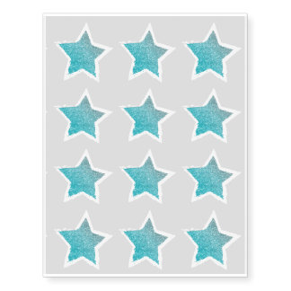 Party Like a Rockstar- Blue Glitter Star Tattoo