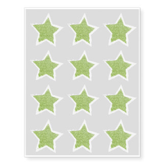 Party Like a Rockstar- Green Glitter Star Tattoo