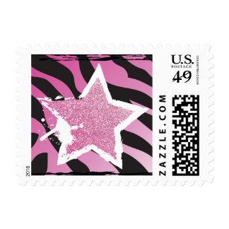 Party Like a Rockstar- Pink Glitter Star Stamp