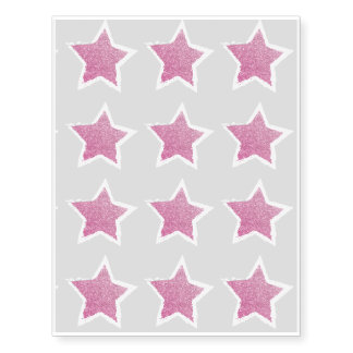 Party Like a Rockstar- Pink Glitter Star Tattoo