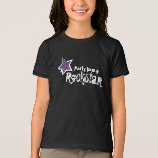 Party Like a Rockstar- Purple Glitter Star T-shirt