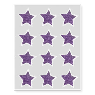 Party Like a Rockstar- Purple Glitter Star Tattoo