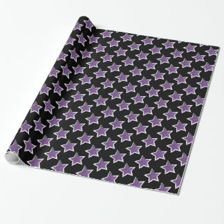 Party Like a Rockstar- Purple Star Wrapping Paper