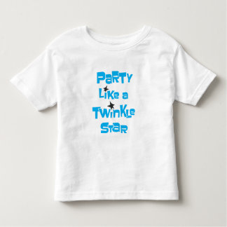 Party Like a Twinkle Star - Toddler White T Shirt