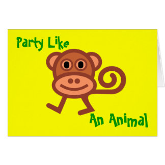 Party Like an Animal Invitation Greeting Card