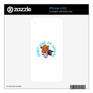 Party like an Animal iPhone 4 Decals