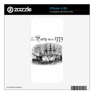 Party like It's 1773 Decal For The iPhone 4S