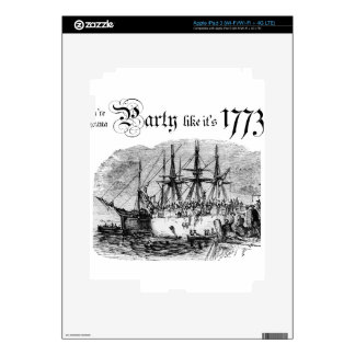 Party like It's 1773 Decals For iPad 3