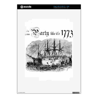 Party like It's 1773 iPad 2 Decals