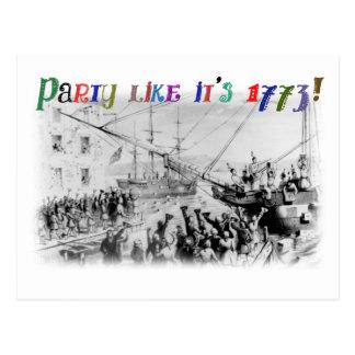 Party like it's 1773! postcard