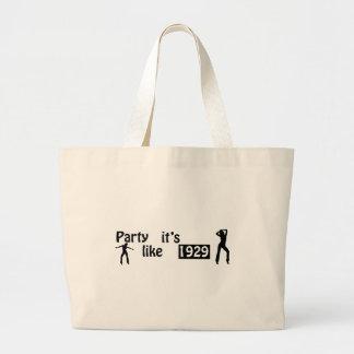 Party like it's 1929 jumbo tote bag