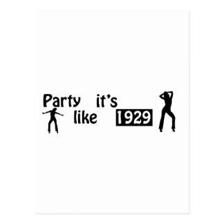 Party like it's 1929 postcard