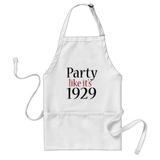 Party Like It's 1929 (Recession) Adult Apron