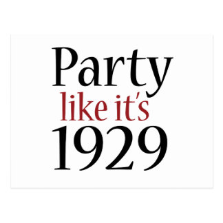 Party Like It's 1929 (Recession) Postcard
