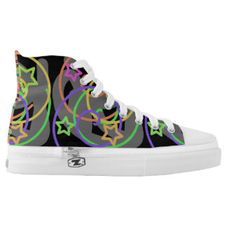 Party Like It's 1985 High Tops Laceup Printed Shoes