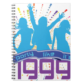 Party Like It's 1999 - Cyan People Spiral Note Book