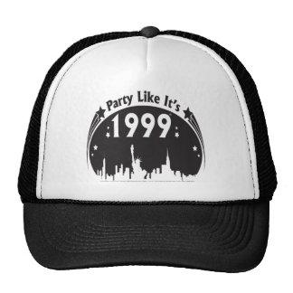 Party Like It's 1999 - Oval City Black Trucker Hat