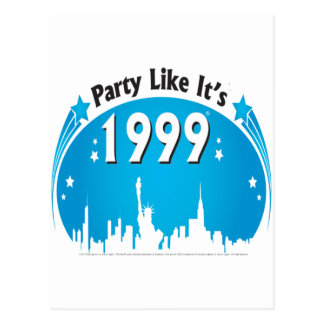 Party Like It's 1999 - Oval City Blue Postcard