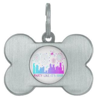Party Like It's 1999 - Purple City Pet Tag