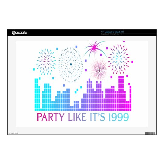 Party Like It's 1999 - Purple City Skin For Laptop