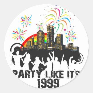 Party Like It's 1999 - Rainbow City Classic Round Sticker
