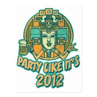 Party Like It's 2012 Postcard