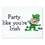 Party Like Youre Irish Card