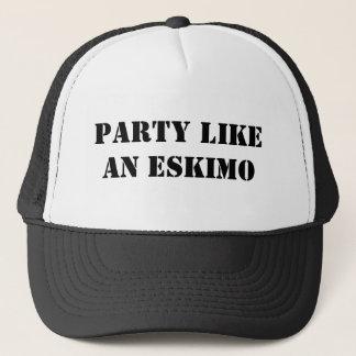 PARTY LIKEAN ESKIMO TRUCKER HAT