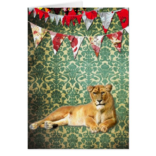 Party Lion Greeting Card
