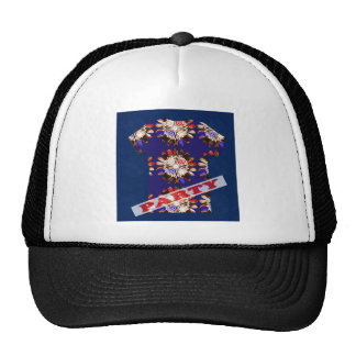 PARTY mightyshirt sparkle elegant casual graphic Trucker Hat