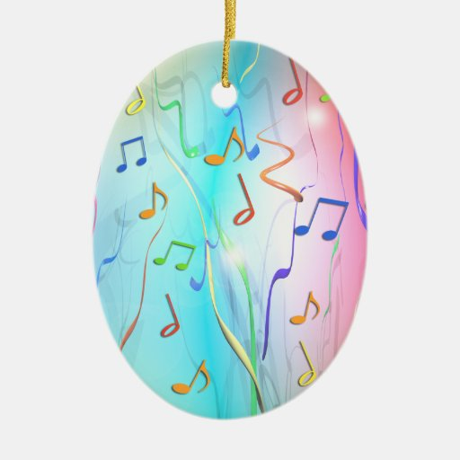 Party Mix Double-Sided Oval Ceramic Christmas Ornament
