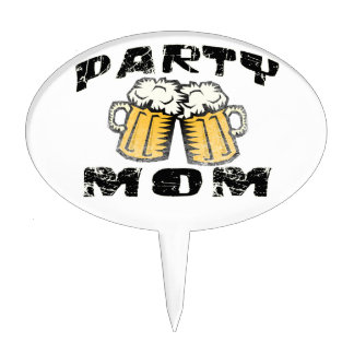 Party Mom Cake Topper