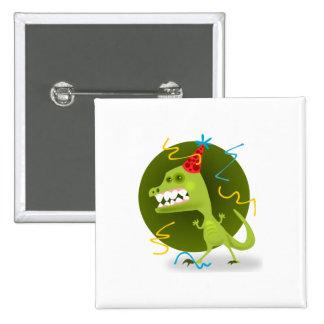 Party monster cartoon button