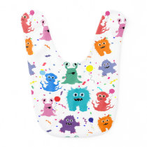 Party Monsters Happy Little Monster Birthday Bib