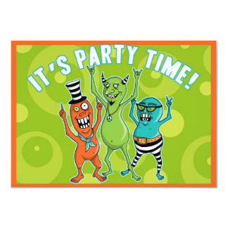 Party Monsters LOVE to Dance! Card