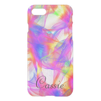 Party Multi-Colored Swirl Clear iPhone Case Name