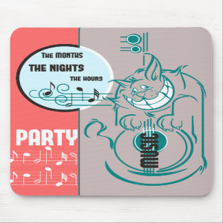 Party Music Cat Mousepad