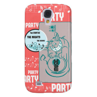 Party Music Cat Samsung Galaxy S4 Case
