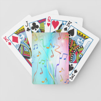 Party Music Notes and Streamers Playing Cards