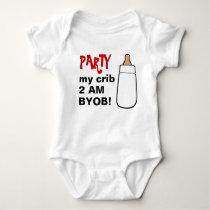 Party my crib 2AM BYOB baby bodyshirt Baby Bodysuit