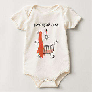 party!  my crib... 4 a.m. organic baby bodysuit