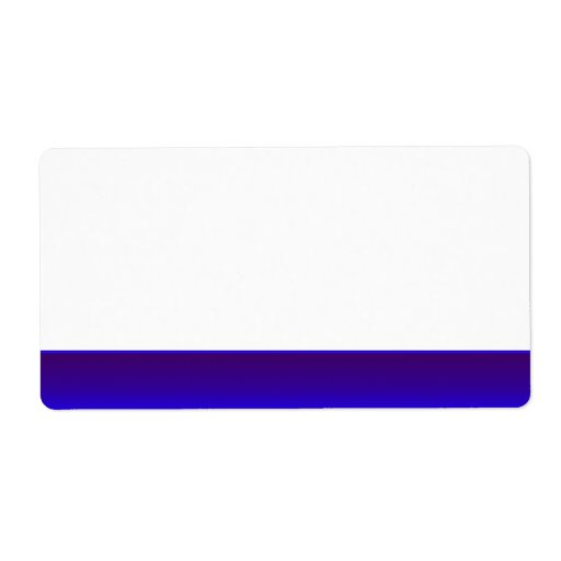 Party Name Tag Label blue Custom Shipping Label